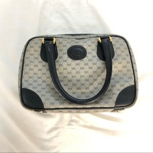 Gucci Vintage Coated Canvas Gg Satchel